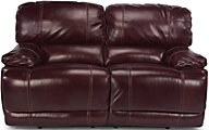 Flexsteel Belmont Burgundy Leather Power Reclining Loveseat