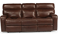 Flexsteel Bixby Leather Power Reclining Sofa