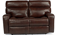 Flexsteel Bixby Leather Power Reclining Loveseat