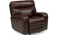 Flexsteel Bixby Leather Power Glider Recliner