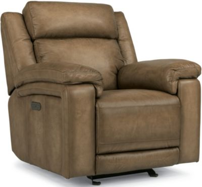 Flexsteel Brody Leather Power Glider Recliner