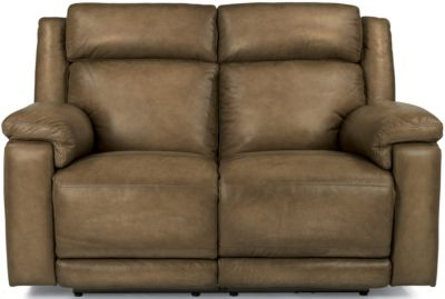 Flexsteel Brody Leather Power Reclining Loveseat