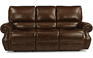 Flexsteel Colton Leather Power Reclining Sofa