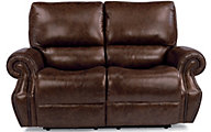 Flexsteel Colton Leather Power Reclining Loveseat