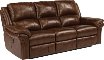 Flexsteel Dandridge Leather Power Reclining Sofa