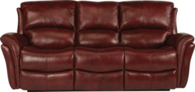 Flexsteel Dominique Red Leather Power Reclining Sofa