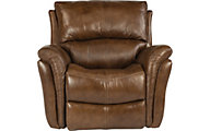 Flexsteel Dominique Leather Power Glider Recliner