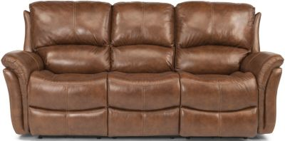 Flexsteel Dominique Leather Power Reclining Sofa