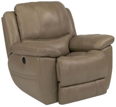 Flexsteel Estella Leather Power Glider Recliner