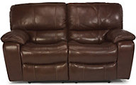 Flexsteel Grandview Leather Reclining Loveseat