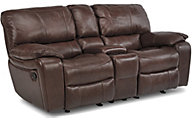 Flexsteel Grandview Leather Gliding Reclining Loveseat