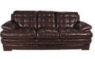 Flexsteel Jacob 100% Leather Espresso Sofa