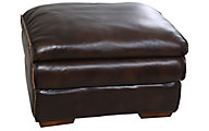 Flexsteel Penthouse 100% Leather Ottoman