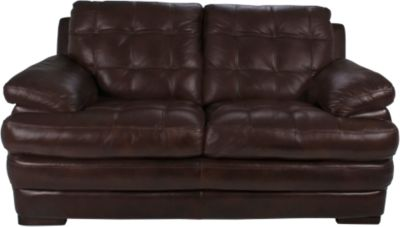 Flexsteel Jacob 100% Leather Espresso Loveseat