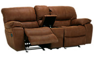 Flexsteel Grandview Reclining Loveseat with Console