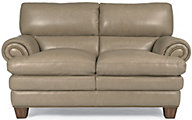 Flexsteel Leigh 100% Leather Loveseat