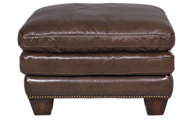 Flexsteel Leighton 100% Leather Ottoman