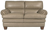 Flexsteel Leighton 100% Leather Loveseat