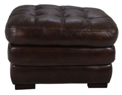 Flexsteel Jacob 100% Leather Ottoman
