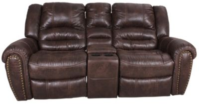 Flexsteel Downtown Power Reclining Loveseat with Console