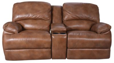 Flexsteel Dylan 100% Leather Glider Reclining Loveseat