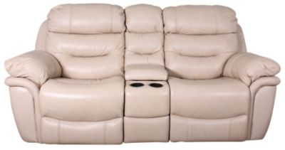 Flexsteel Westport Leather Rocking Reclining Loveseat