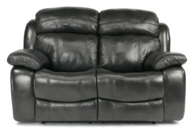 Flexsteel Como Leather Power Reclining Loveseat