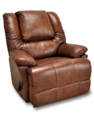 Franklin Kinzie Leather Rocker Recliner