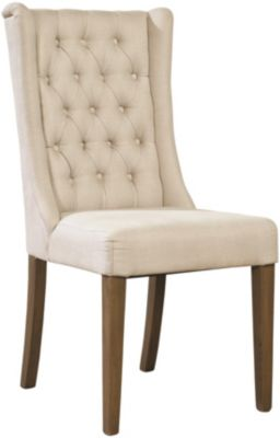 Furniture Classics Cream Tufted Side Chair