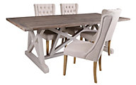 Furniture Classics Aquarius Table & 4 Tufted Chairs
