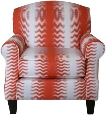 Fusion Gita Stripe Persimmo Accent Chair