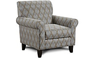Fusion Rhombi Forms Greystone Accent Chair