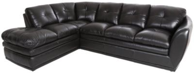 Futura 8188 Collection Black Leather 2-Piece Sectional