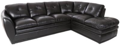 Futura 8188 Collection Leather 2-Piece Right-Side Chaise