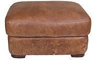Futura 10106 Collection 100% Leather Ottoman