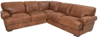 Futura 10106 Collection 100% Leather 3-Piece Sectional
