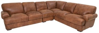Futura 10106 Collection 100% Leather 4-Piece Sectional