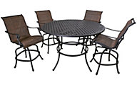 Gather Craft Castle Rock Bar Table & 4 Sling Stools