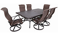 Gather Craft Castle Rock 7-Piece Sling Outdoor Dining Set