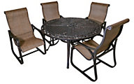 Gather Craft Montevallo Table & 4 Arm Chairs