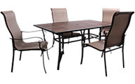 Gather Craft Tivoli Table & 4 Sling Chairs