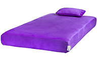 Glideaway Jubilee Purple Twin Mattress with Free Pillow