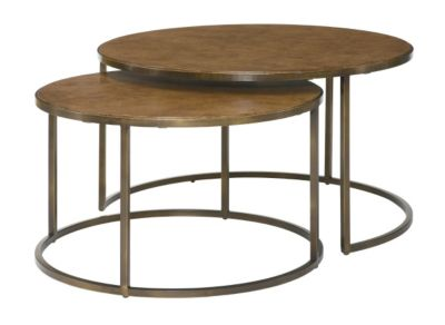 Hammary Furniture Soho Round Nesting Coffee Table