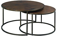 Hammary Furniture Sanford Round Nesting Coffee Tables