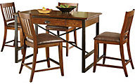 Hammary Furniture Baja Counter Table & 4 Stools