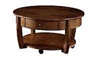 Hammary Furniture Concierge Round Lift-Top Coffee Table
