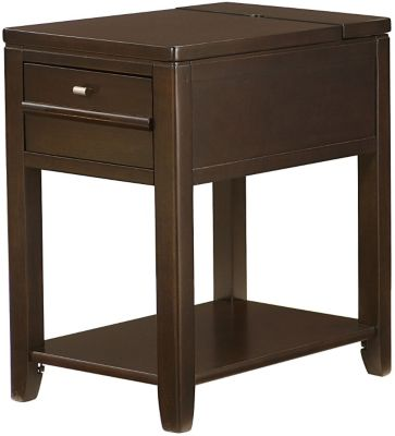 Hammary Furniture Chairsides Collection Espresso Chairside Table