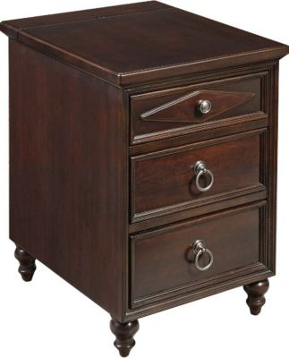 Hammary Furniture Chairsides Collection Cherry 3-Drawer Chairside Ta