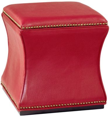 Hammary Furniture Hidden Treasures Red Storage Cube Ottoman