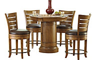 Hammary Furniture Hidden Treasures Pub Table & 4 Stools